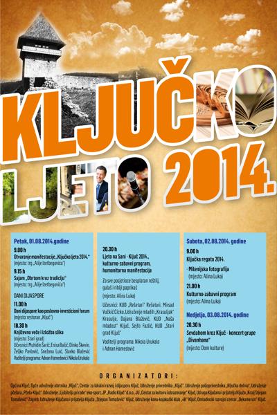 Program Ključko ljeto 2014