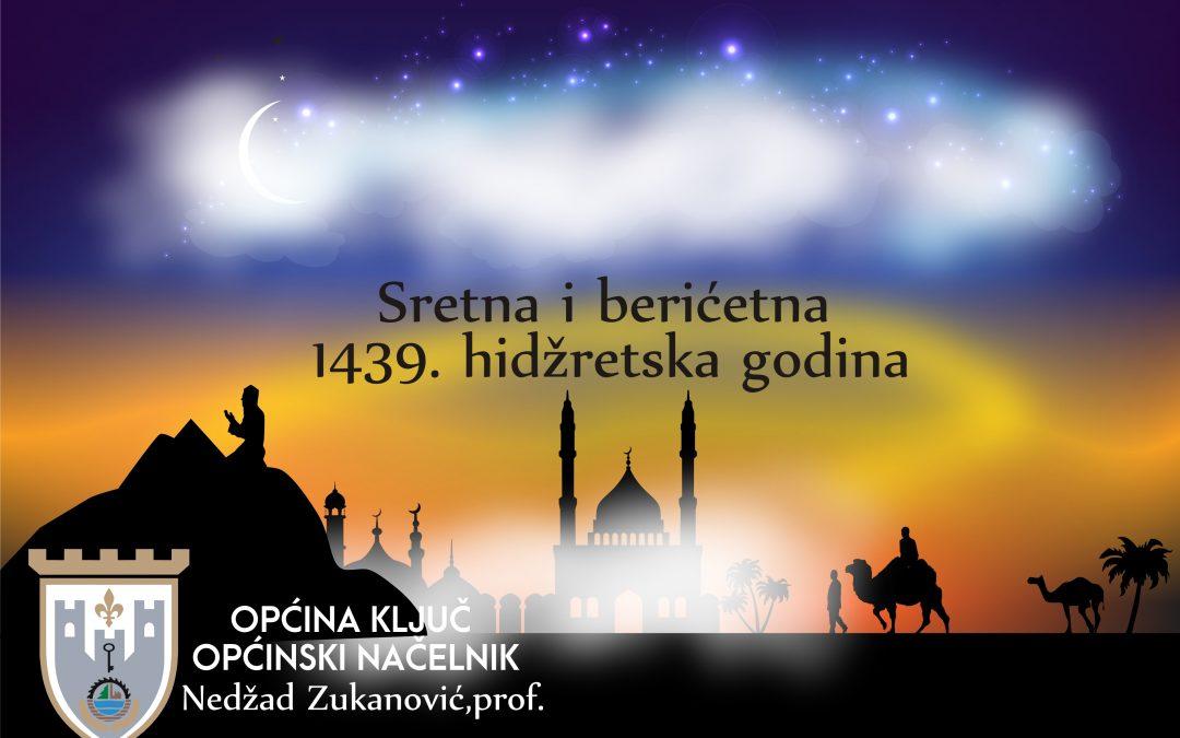 Čestitka Općinskog načelnika Nedžada Zukanovića povodom Nove hidžretske 1439. godine