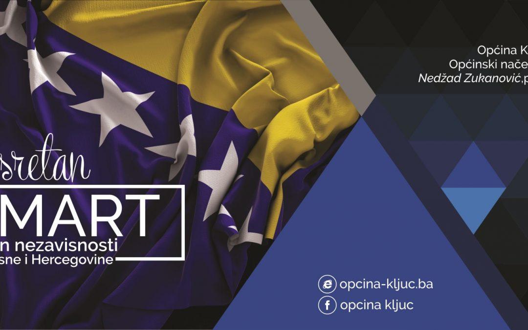 Sretan 1. mart – Dan nezavisnosti Bosne i Hercegovine