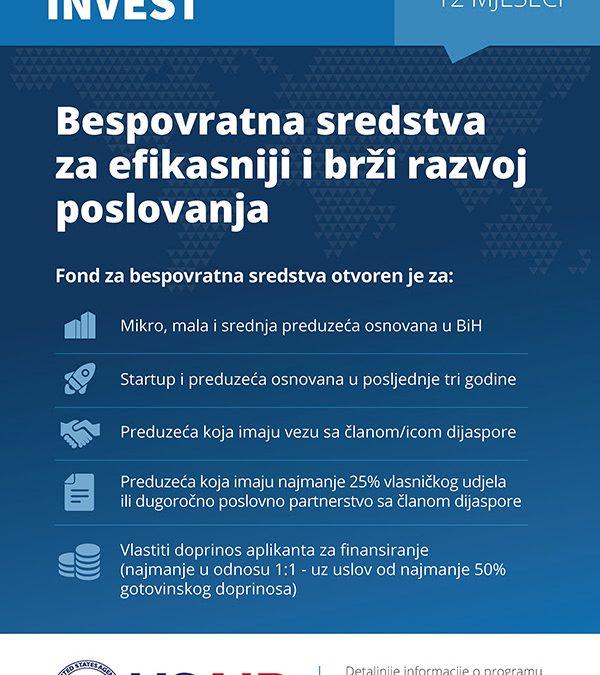 """Javni poziv: """"Jačanje uloge dijaspore u ekonomskom razvoju Bosne i Hercegovine"""""""