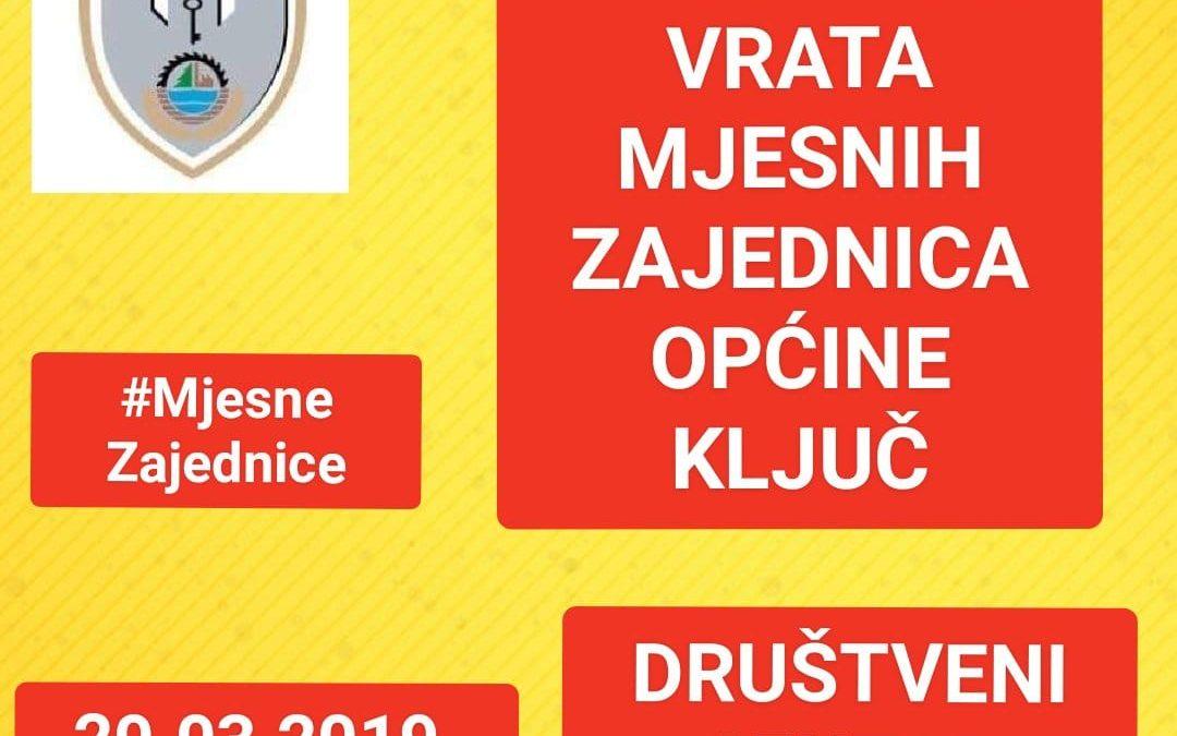 Dan otvorenih vrata mjesnih zajednica općine Ključ u Društvenom centru u Sanici