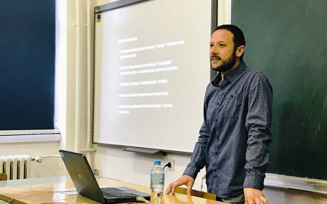"""Mario Katić u okviru projekta """"Dijaspora za razvoj"""" održao predavanja iz oblasti  etnologije i antropologije"""