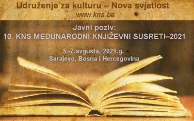 Javni poziv: 10. KNS Međunarodni književni susreti – 2021
